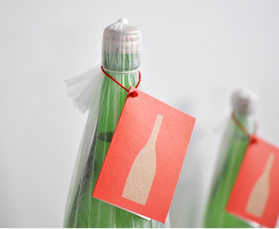 メッセージカード付き日本酒